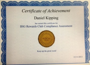 IHG Rewards Club Compliance
